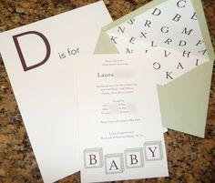 Baby A to Z Scrapbook #babyshower
