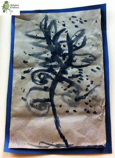 A friend brought in a Japanese Maple sapling, and our friends painted their interpretations of it in black watercolor!  — Alphabet Academy North Kindergarten  http://thealphabetacademy.com  #reggio-inspired #japanese #maple #sapling #watercolor #paint #kindergarten