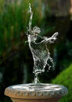 water fountain ballerina