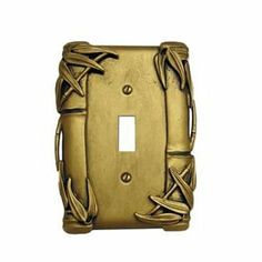 Anne at Home 5018A-233 Bamboo Switch Outlet Cover Switch Plate by Anne at Home. $22.19. Finish:Bronze with Copper Wash, Configuration:Single Toggle - One gang plate The Bamboo Series is inspired by very old Japanese silver and carved ivory. The Bamboo is a fresh and original design that is easy to live with in many different settings, both modern and traditional. One gang plates measure 3-1/16' width Two gang plates measure 4-7/8' width Three gang plates measure 6-11...