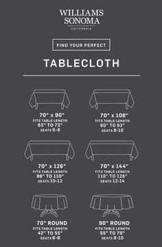 Tablecloth Size Calculator | Williams Sonoma
