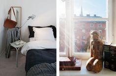 Un piso de 53 m2 minimalista sin puertas