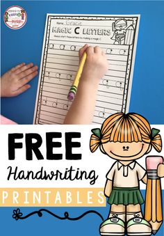 FREE handwriting worksheets for students - teach children correct directionality to help improve their handwriting and printing capital and lowercase letters - easy writing center or small group instruction - FREEBIE printable - students who mix up b and Handwriting Practice Free, Free Handwriting Worksheets, Kindergarten Handwriting, Teaching Handwriting, Kindergarten Freebies, Improve Your Handwriting, Handwriting Analysis, Kindergarten Writing, Teaching Writing
