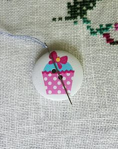 Shop for on Etsy, the place to express your creativity through the buying and selling of handmade and vintage goods. Polka Dot Cupcakes, Needle Minders, Pink Polka Dots, Christmas Ornaments, Holiday Decor, Awesome, Creative, Handmade, Etsy