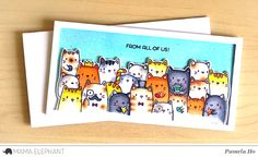 Clearly Creative Stamps. Mama Elephant Cat's Meow. Would try this with the Indigo Blu doggy stamp I have.