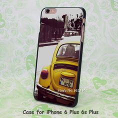 original Yellow beetle Pattern hard black Case Cover for iPhone 4 4s 5 5s 5c 6 6s 6 Plus 6s Plus