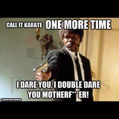 martial arts & fight humor  http://www.bjjproblems.net/img/memes/callItKarateIdareYou.jpg