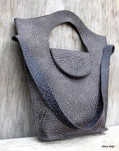 Bull Hide Leather Tote Bag