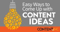 Most entrepreneurs fail at developing ideas for their content because they fail to plan. Here are 3 ideas.