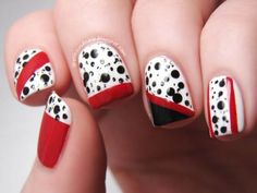DIY Ideen für schöne Nägel zu Fasching - Dalmatiner-Nägel