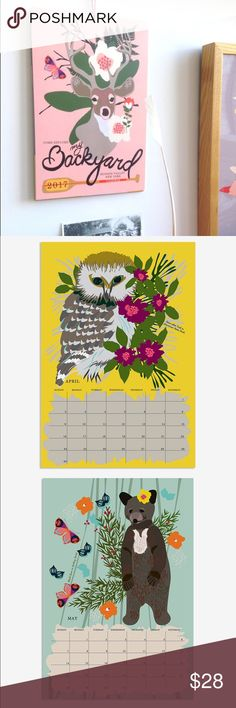 2017 Calendar 2017 wall calendar designed by Hudson valley artist in NY. Sold out. Never opened. Anthropologie Other