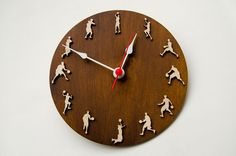 Basketball clock sport gift for sportsmen home decor wood wall clock with basketball players gift for sport lovers. Basketball clock is good gift idea for sportsmen or sports enthusiast, perfect...