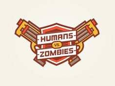 Humans vs. Zombies logo  by Andrew Power