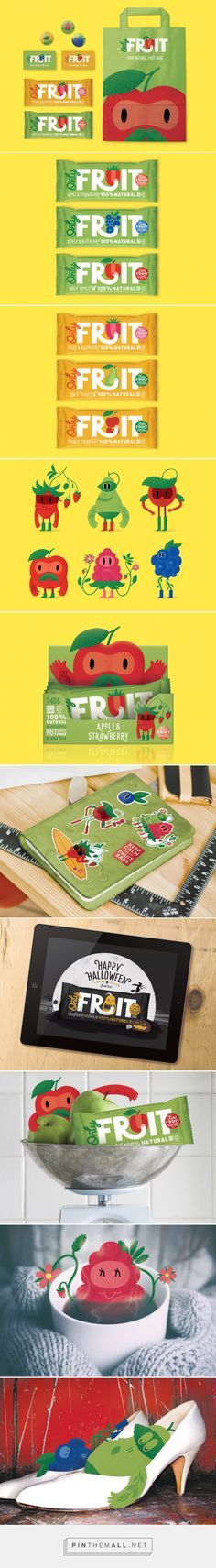 Only Fruit #fruitbar #concept #packaging designed by Maria Mordvintseva-Keeler - http://www.packagingoftheworld.com/2015/07/only-fruit-concept.html