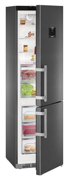 Liebherr CBNPBS4858 Frost Free Fridge Freezer - The Liebherr CBNPBS4858 freestanding fridge freezer with comes in sleek, elegant black steel to stand out in your kitchen with its over 200 cm tall apperaence. in addtion to its towering height, it bo http://www.MightGet.com/february-2017-2/liebherr-cbnpbs4858-frost-free-fridge-freezer-.asp