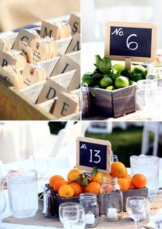 table numbers apple centerpiece - Google Search