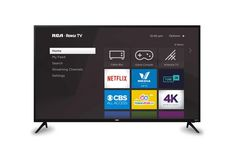 "Rca 55"" 4K Led Roku Smart Tv, Rtru5528  55 In Tv Icon, Tv Trays, Plasma Tv, Cable Box, Home Tv, 4k Uhd, Smart Tv, Ways To Save, How To Know"