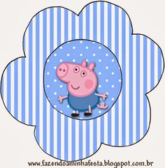 George Pig Free Printable Invitations.
