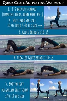 A post about running injuries and the two principles that helped me master glute activation. Plus a quick and effective glute activation warm-up! At Home Workout Plan, At Home Workouts, Butt Workouts, Treadmill Workouts, Strength Workout, Strength Training, Glute Activation Exercises, Glute Exercises, Stretches