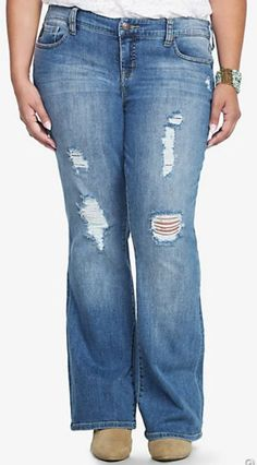 Distressed jeans are so much fun and can be dressed up or down