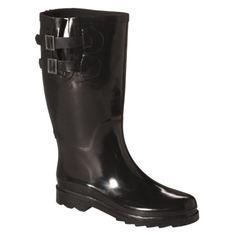$17.49 Womens Double Buckle Rain Boot w/ Back Zipper - Assorted Colors