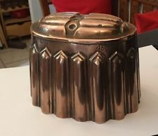 ANTIQUE VICTORIAN COPPER JELLY PUDDING MOULD MOLD CM 450 GOTHIC SKIRT