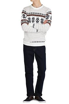 Hipsteration Mens Pullover Patterned Crew Neck Sweater Ivory, M Hipsteration http://www.amazon.com/dp/B01B4XQN7U/ref=cm_sw_r_pi_dp_yboQwb11E3EAT