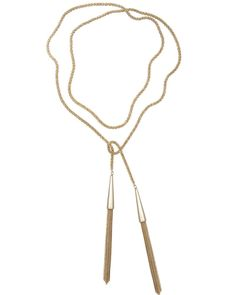 Phara Necklace in Gold - Kendra Scott Jewelry As seen on celebrities like Selena Gomez and featured in Glamour magazine, a thick metal cord curves loosely into a knot or lies freely secured by metallic tassels in the Phara Necklace. The adaptiveness of this piece allows for fashionable creativity.