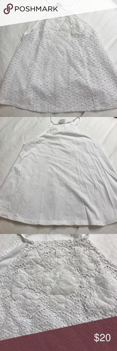 Zara white floral top Embellished tank top Zara Tops Tank Tops