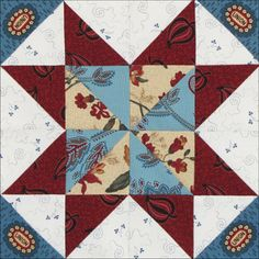 Civil War Quilts - Several interesting blocks here.  This one is near the bottom of the page.