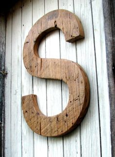"BIG Decorative Rustic Barn Wood Letter 20""  Custom Made from Salvaged Wood  Etsy"