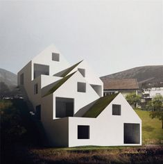 A great minimalist feel to these houses, which seem to accommodate the same natural light levels for each one.