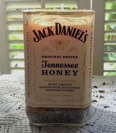 Learn how to cut square bottles. Project idea for Jack Daniel's candle. #howto #recycledcrafts