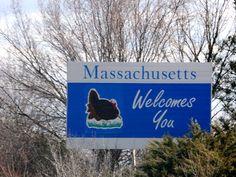 Massachusetts State Sign