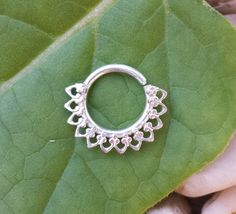 argentium silver septum jewelry by theglorious on Etsy