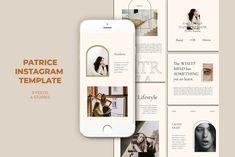 Patrice Instagram Templates by Azruca on @creativemarket #socialmedia #template #handpicked Social Media Template, Social Media Design, Mood Board Creator, Instagram Design, Instagram Posts, Instagram Templates, Ad Design, Graphic Design