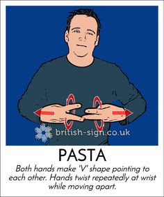 PASTA/SPAGHETTI - British Sign Language (BSL)