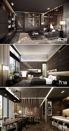 Architecture House Concept The Luxury House Concept by Apartment Interior, Apartment Design, Penthouse Apartment, Modern House Design, Modern Interior Design, Luxury Interior, Interior Architecture, Luxurious Bedrooms, Living Room Designs