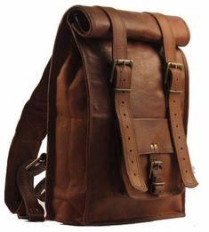 Men's Leather Backpack Bag Rucksack Messenger Laptop Satchel Genuine Vintage | Clothing, Shoes & Accessories, Men's Accessories, Backpacks, Bags & Briefcases | eBay!