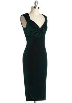 Lady Love Song Dress in Emerald Velvet | Mod Retro Vintage Dresses | ModCloth.com