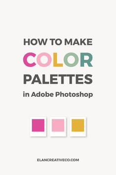 Learn how to create a color palette in Photoshop starting from an image you love. You can save the palette and use it in other projects. Photoshop Design, Photoshop Tutorial, Photoshop Fail, Photoshop Website, Photoshop Youtube, Web Design, Graphic Design Trends, Graphic Design Tutorials, Graphic Design Typography