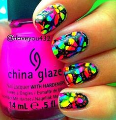 Thus young lady does of the most beautiful nail designs. Painted Nail Art, Hand Painted, Beautiful Nail Designs, China Glaze, Nail Polish Colors, Fun Nails, Instagram Posts, Rainbow Flowers, Neon Colors