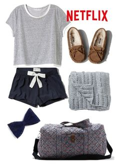 """""""Sleepover Style♡"""" by amazinggrace31 ❤ liked on Polyvore featuring Abercrombie & Fitch, Victoria's Secret, American Eagle Outfitters and Bloomingville"""