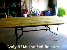 Replace Broken Glass Patio Table Top With Wood  Picnic Table Style!