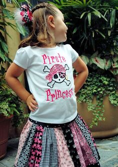 Love this shirt for the pirate princess.