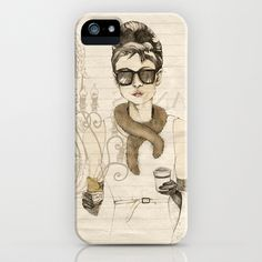 My breakfast at Tiffanys iPhone  iPod Case by Cecilia Sánchez - $35.00