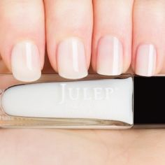Soraphine - sheer white creme nail polish.  Get your free four-piece gift box!  ($45 value) http://www.julep.com/rewardsref/index/refer/id/313807/