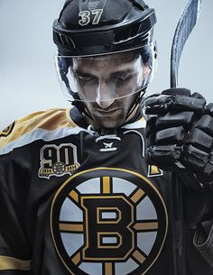 Patrice Bergeron of the Boston Bruins by KC Armstrong