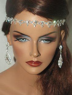 crystal wedding headband wedding headwrap bridal by BellaTiaraLLC, $34.99