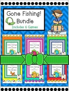 The Gone Fishing Literacy Center Games Bundle created by The Primary Place is ideal for Pre-K - 1st grade. There are 73 pages in this compressed zip file. You can make this a center or create enough for the class to do this activity at the same time in small groups.